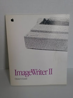 Picture of Apple ImageWriter II printer manual