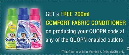 Free Sample of Comfort After Wash