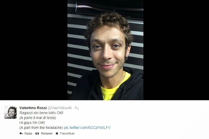 Kondisi Valentino Rossi Baik Walaupun Pusing Sedikit