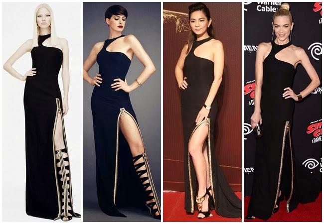 2014 金馬獎 SHE陳嘉樺撞衫 Versace 2015 Resort