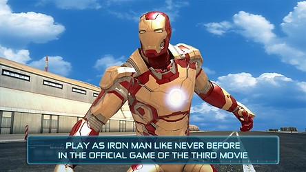 Screenshots of the Iron Man 3 for Android tablet, phone.