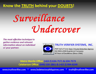 Truth Verifier Systems Inc. No. 1 Best Private Detective Agency in Philippines