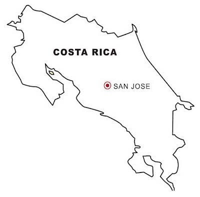 la Bandera de Costa Rica Para Colorear Bandera de Costa Rica Para