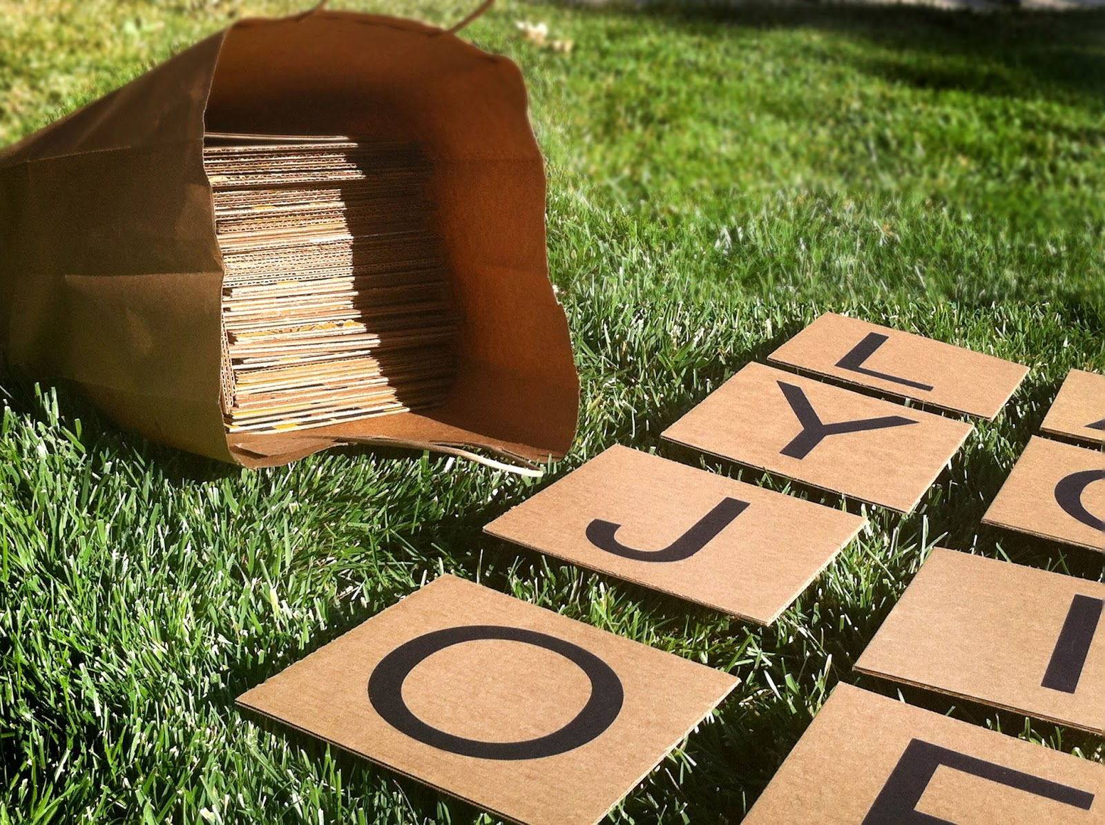 Backyard Scrabble Tiles : From the Carriage House Yard Scrabble & Boggle