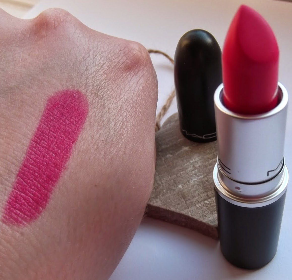 MAC Pink pigeon lipstick review swatch matte