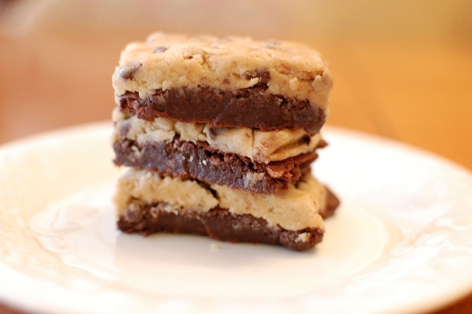 Family Ever After....: Eggless Cookie Dough Brownies