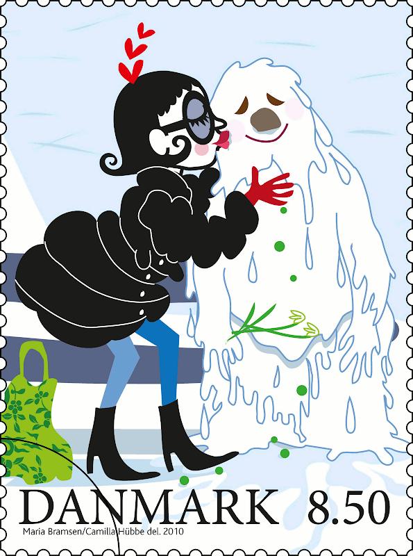 Snemand Frost dør lykkeligt under de varme kys fra Frøken Tø
