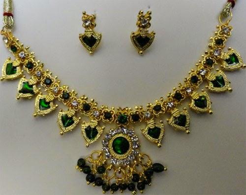 Kerala Traditional Palakka Mala jewellery | Palakka Mala ...