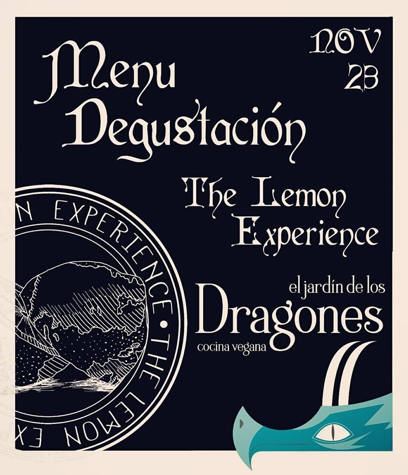 """Menú Degustación """"The Lemon Experience"""" en El Jardín de los Dragones"""