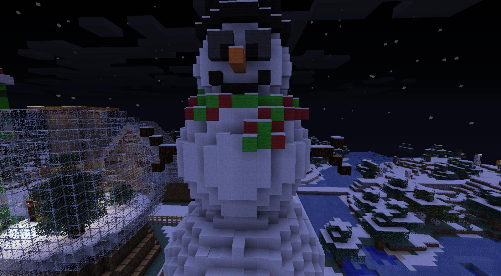 Баг с снеговиком в майнкрафт бесконечный снег