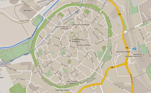 Nordlingen center map