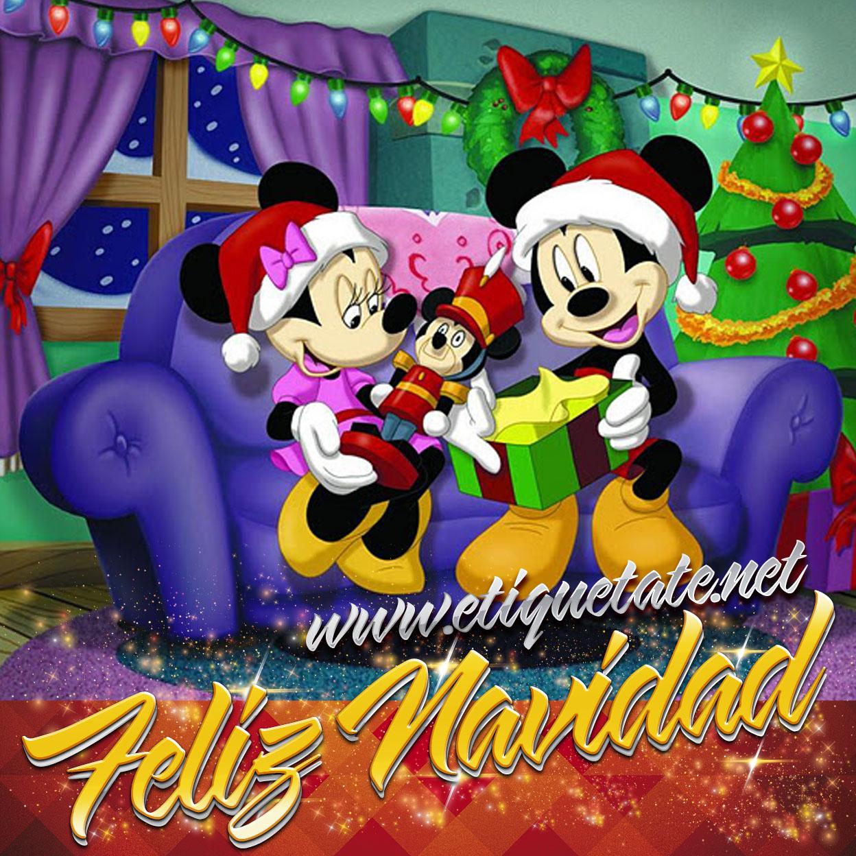 Imágenes+Bellas+de+Navidad+con+fotos+de+Mickey+Mouse+y+Minnie+para ...