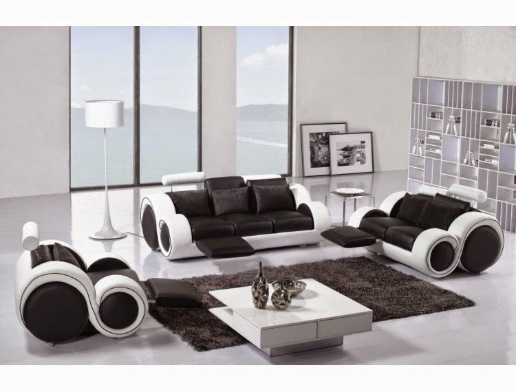super salon noir et blanc. Black Bedroom Furniture Sets. Home Design Ideas