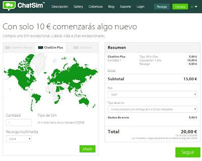 Chatsim ¿ la mejor tarifa para whatsapp ?