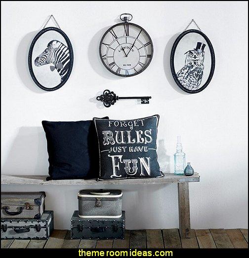 Pocket Watch Clock fun throw pillows