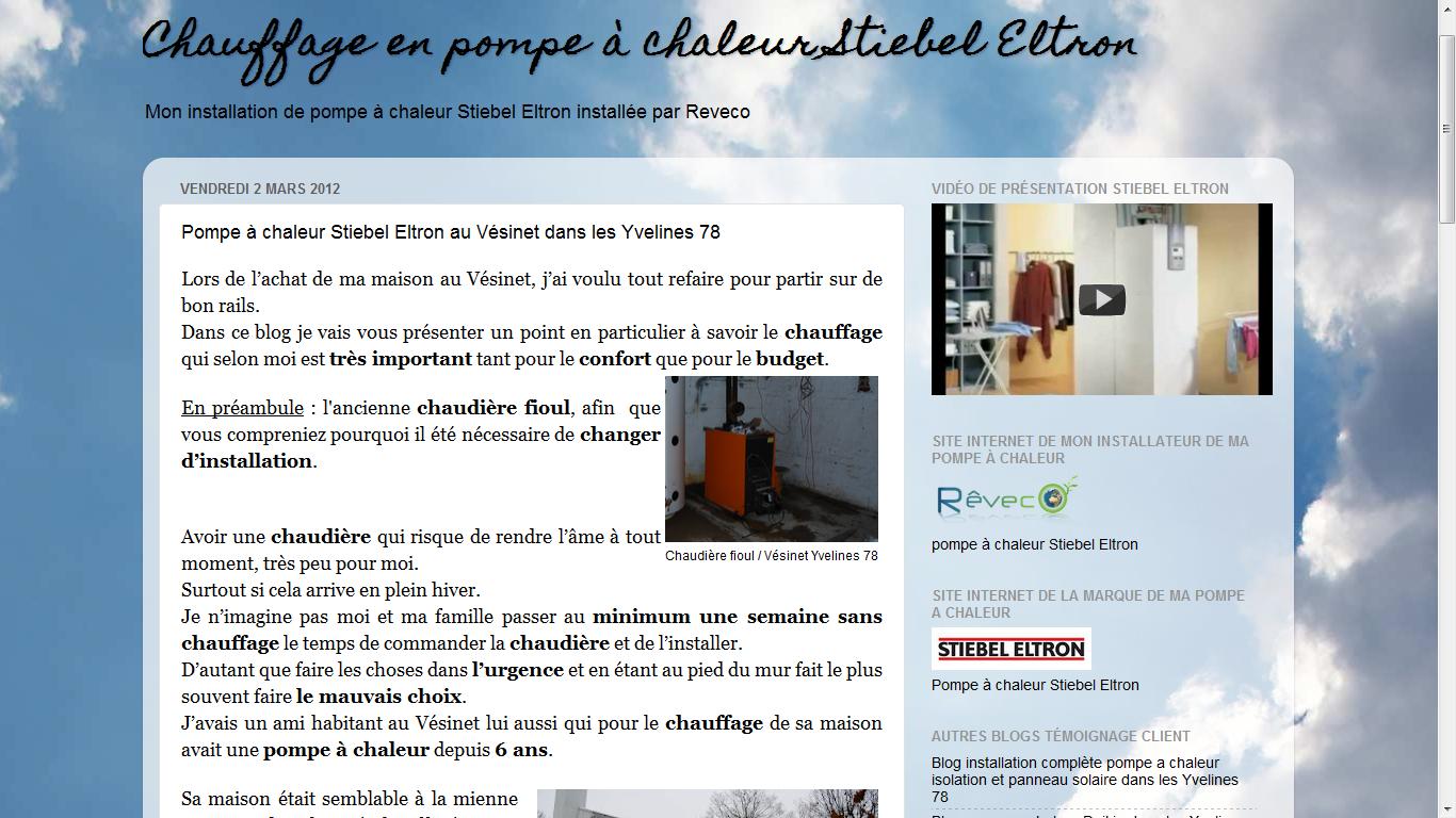 les blogs client reveco pompe chaleur stiebel eltron installation de deux pac air eau au. Black Bedroom Furniture Sets. Home Design Ideas