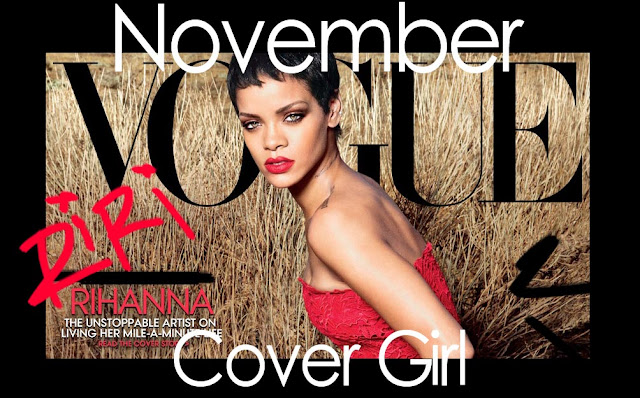 Rihanna poses on front cover of vogue