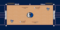 Court with Western Conference Finals Logo