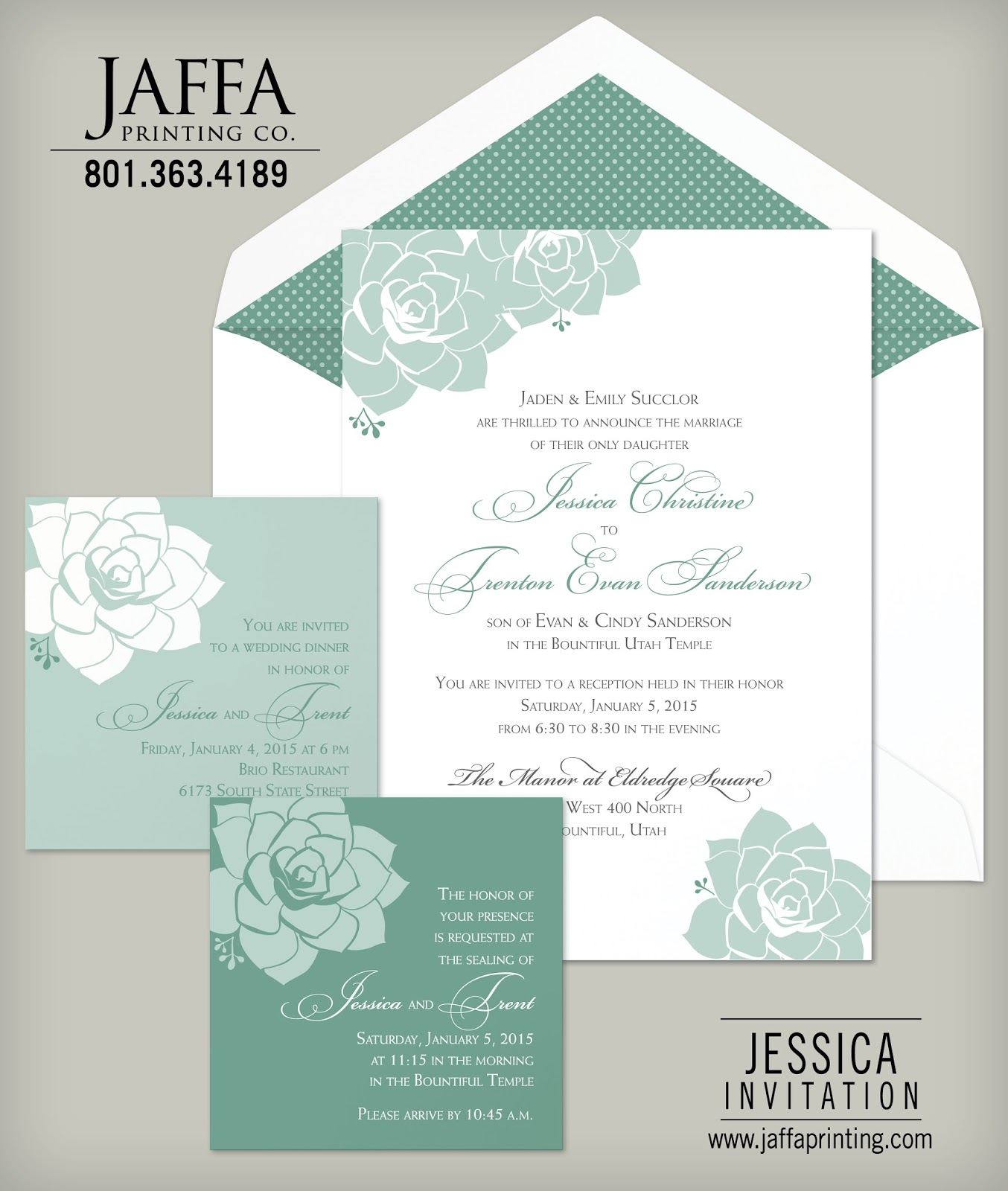 Wedding Invitation Blog Floral Succulents The Jessica Wedding