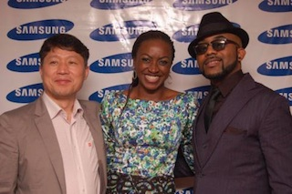 Kate Henshaw and Bank W as 2013 Samsung Brand Ambassadors