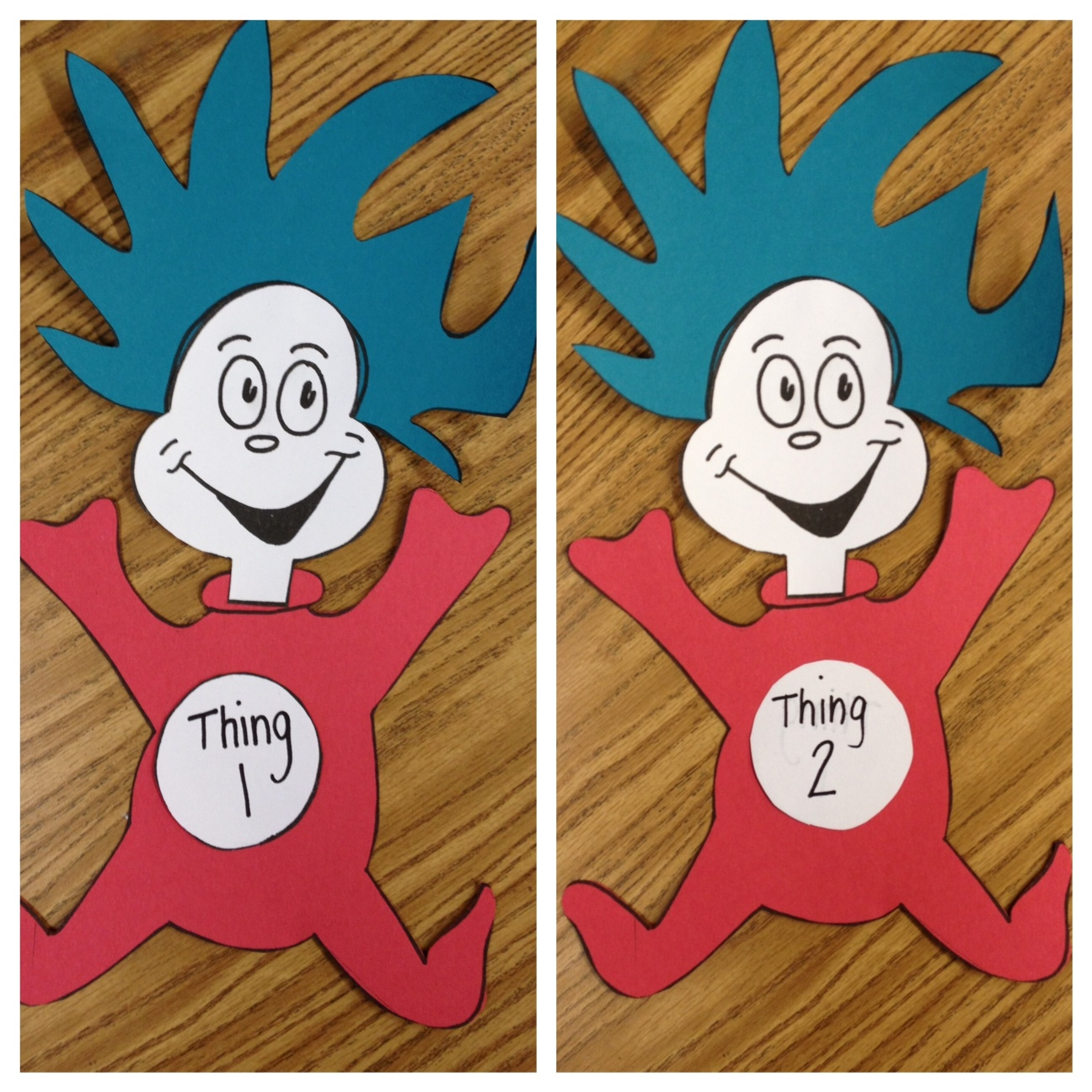 Thing 1 and Thing 2 Craft - Apples and ABC\'s
