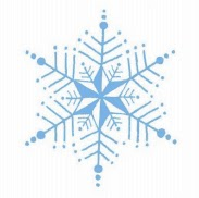 copo de nieve decoración