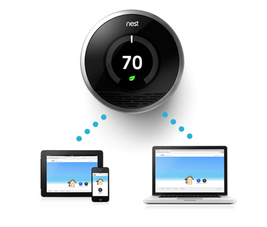 If it 39 s hip it 39 s here archives the nest a new smart savvy sensing stylish thermostat for - Nest thermostat stylish home temperature control ...