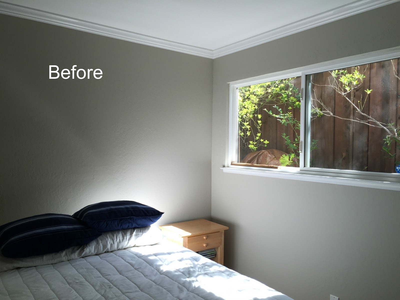 maximizing a guest room blue and white before and after classic