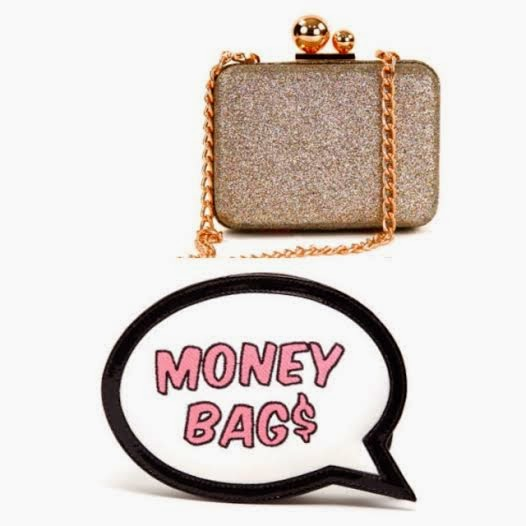 Sophia Webster cluthes, Sophia Webster handbags, text bubble clutch, Money bags clutch, sassy text purses