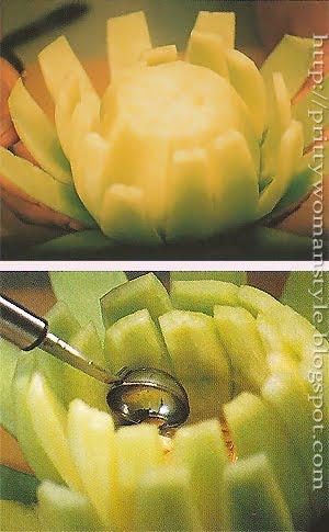 Кошничка от пъпеш - трети ред и изваждане на семките