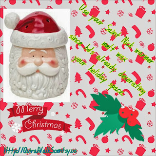 saint nick, Scentsy, Santa, candle warmer, Christsmas
