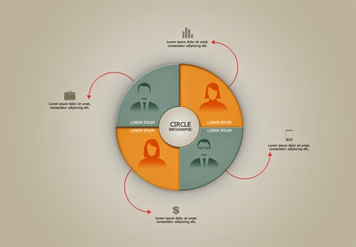 Video Tutorial Modern Circle Infographics