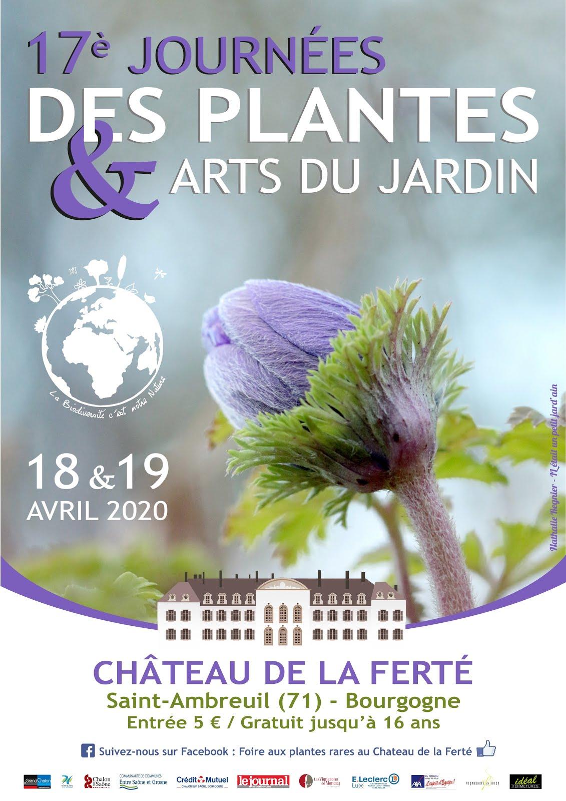 Journées des plantes de la Ferté reportées aux 17 & 18 octobre 2020 !