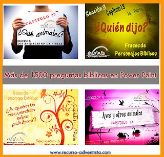 Más de 1500 preguntas bíblicas en Power Point