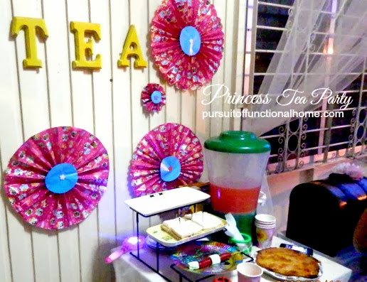 Princess Tea Party Ideas, decorations, food table