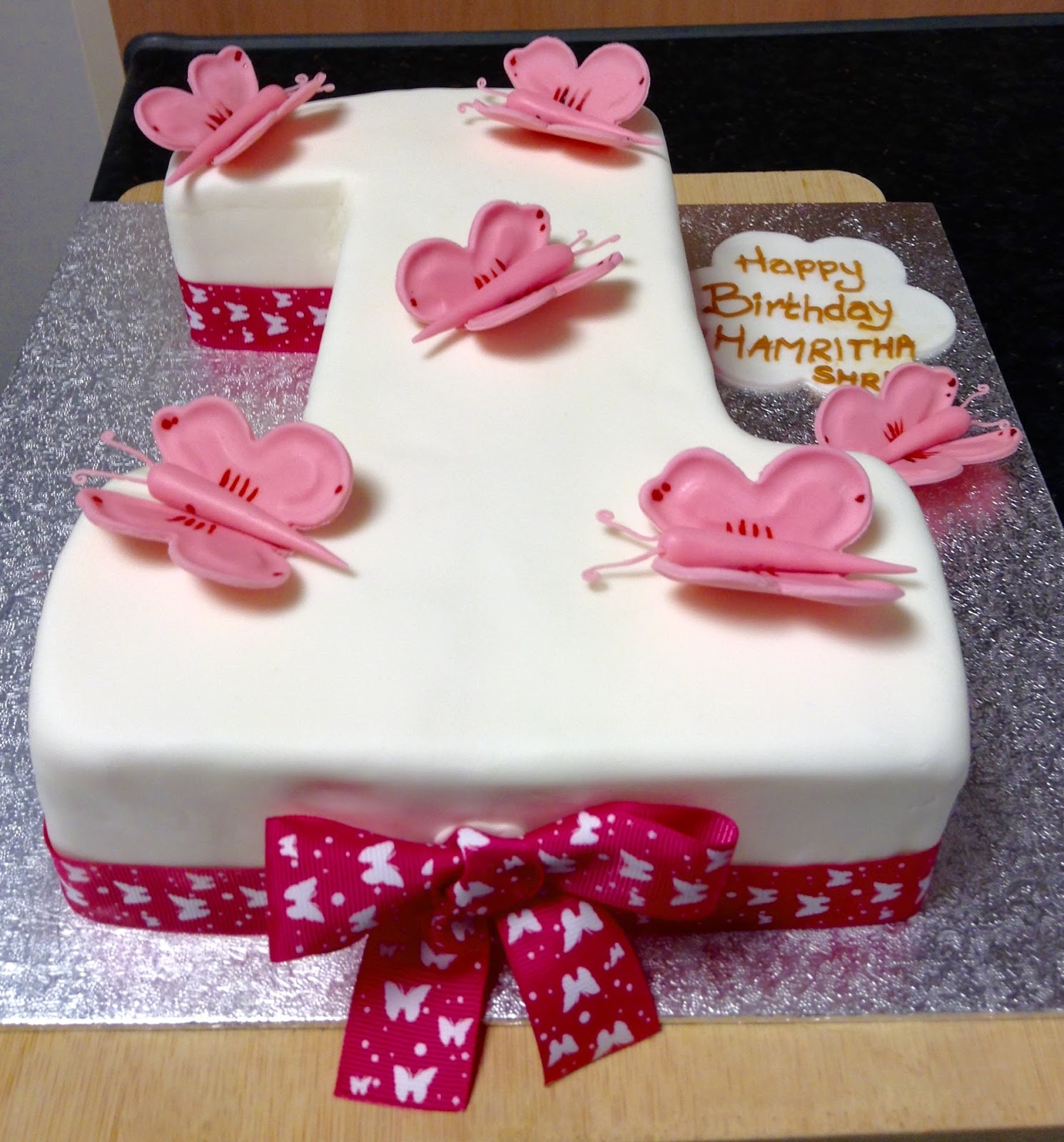 Pick My Bake Number Shaped Butterfly Cake