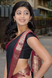 Pranitha In Black Saree Pics