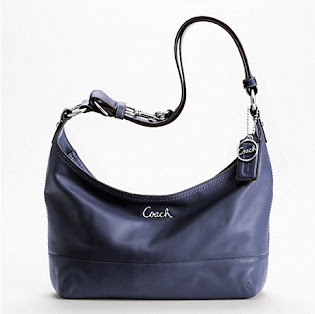 Incoming Stock Coach Leather Pieced Duffle F17489 Denim