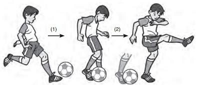 Teknik Menendang Bola Dengan Punggung Kaki