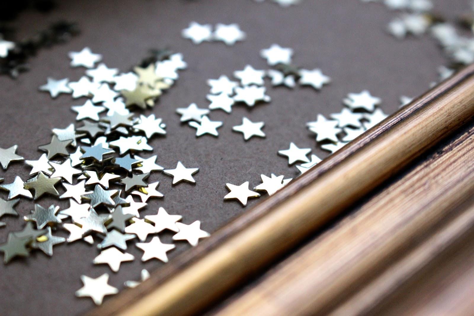Gold Stars Christmas Sprinkles
