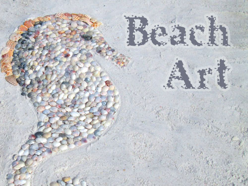 shell beach art