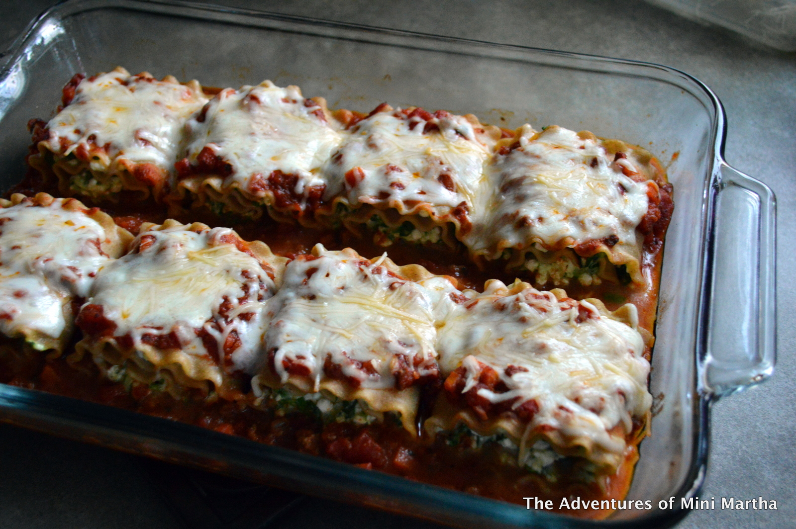 Spinach Lasagna Rollups w/Slow-Simmered Meat & Veggie Sauce | The ...