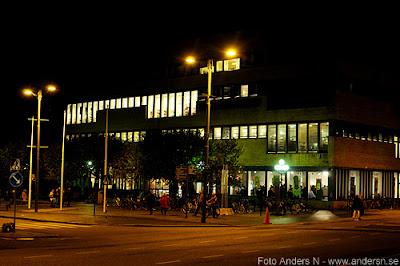 göteborgs stadsbibliotek, göteborg, by night, kulturnatta, 2011, nattbild, kvällsbild, götaplatsen, avenyn, foto anders n
