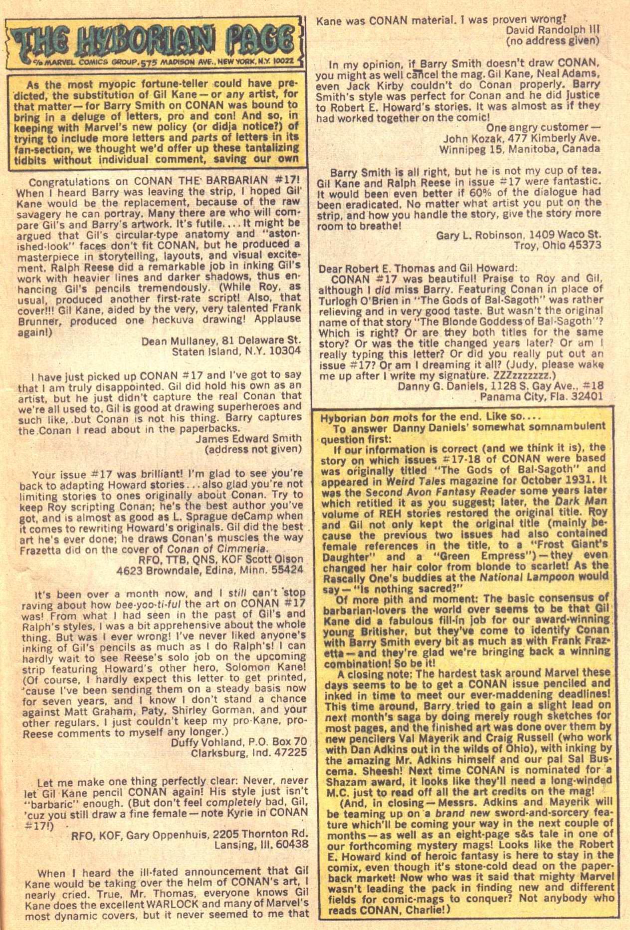Conan the Barbarian (1970) Issue #21 #33 - English 23
