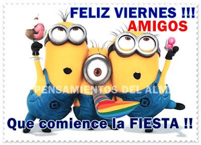 tarjetas de feliz viernes amigos