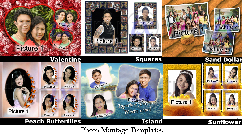 photo montage templates photo services online