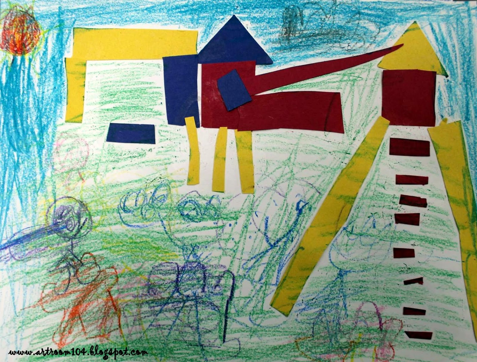 Art Room 104: Primary Playgrounds: A Review in Shape and Primary Colors!