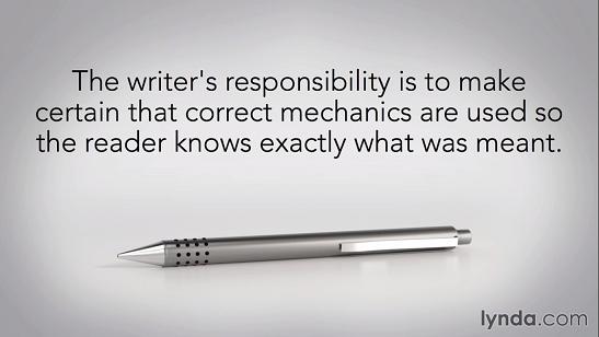 writers responsibility