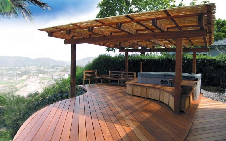 hot tub patio ideas ayanahouse - Hot Tub Design Ideas