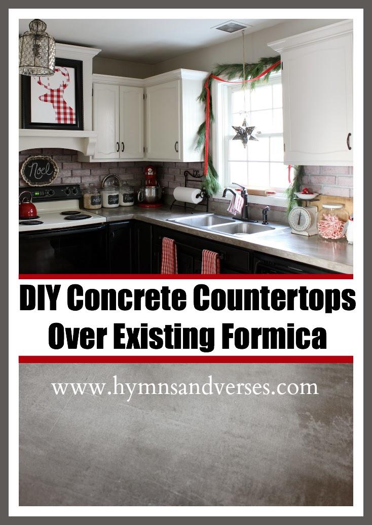 DIY Concrete Countertops Over Existing Formica